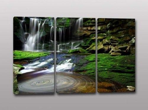 quadri moderni natura acqua cascate