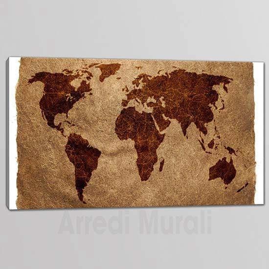 quadri moderni stampa planisfero mappamondo 1 tela