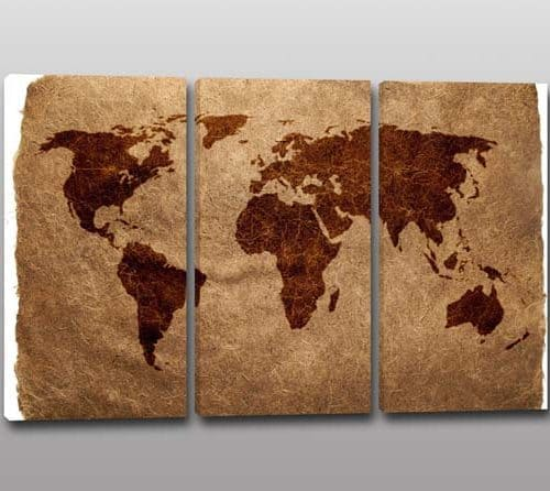 quadri moderni stampa planisfero mappamondo