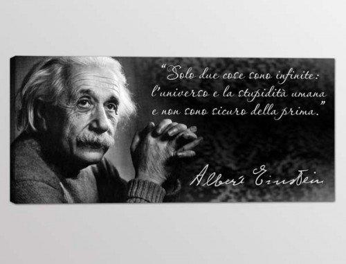 quadro moderno frase Albert Einstein