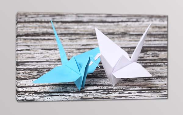quadro moderno origami stampa tela