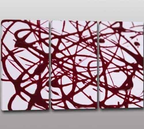 tris quadri moderni arte astratta