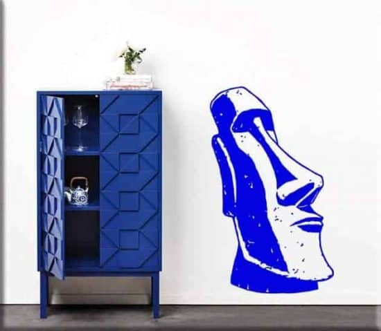 wall sticker statua Moai totem