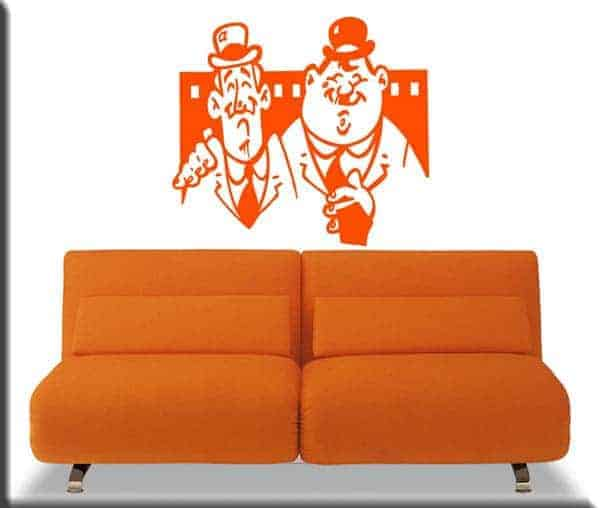 wall stickers Stanlio Ollio cinema