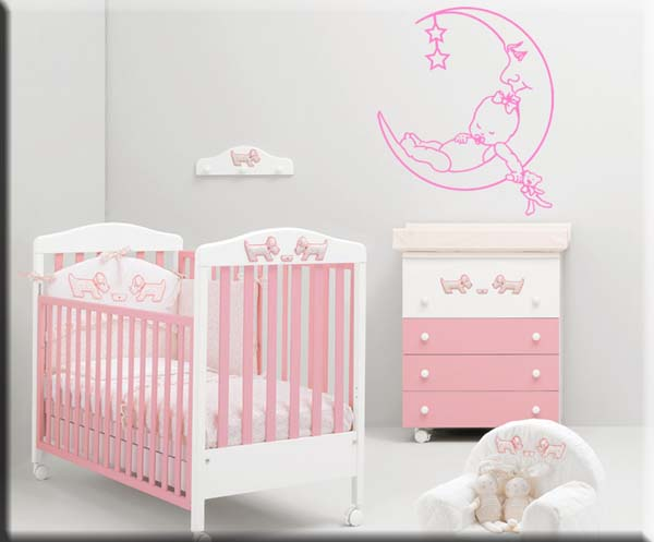wall stickers bambini bebè luna