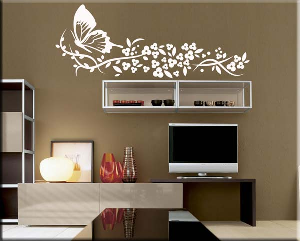 wall stickers fiori farfalla