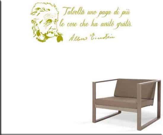 wall stickers frase Albert Einstein
