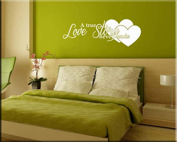 wall stickers frase love story
