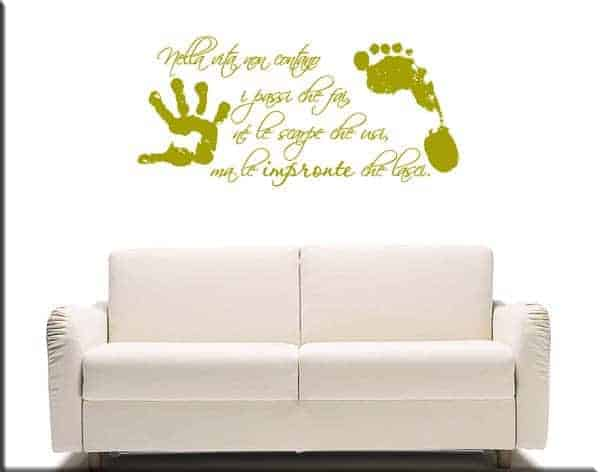 wall stickers frase vita impronte