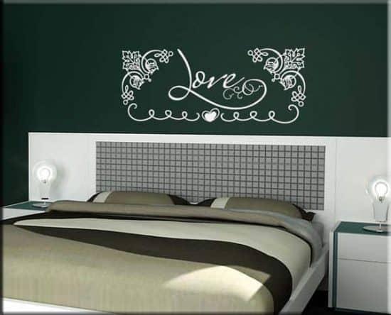 wall stickers parola love letto