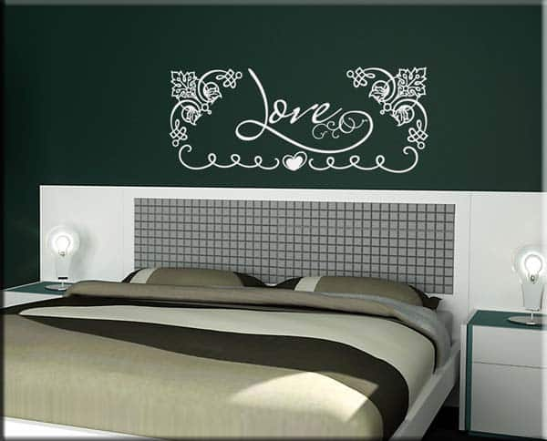 wall stickers parola love letto