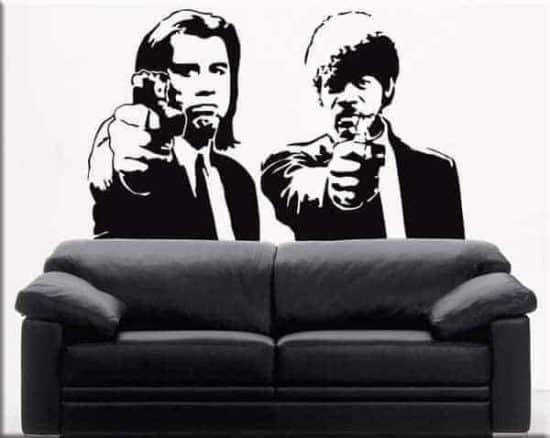 Adesivi da parete Pulp Fiction cinema