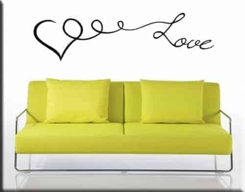 Adesivo da parete cuore love