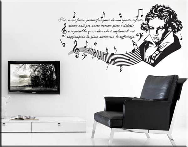 Adesivo da parete frase Beethoven