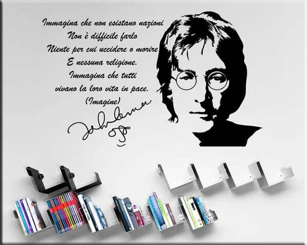 Adesivo da parete frase John Lennon