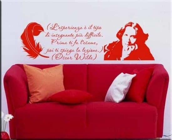 Adesivo murale citazione Oscar Wilde