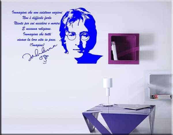 Adesivo murale frase John Lennon