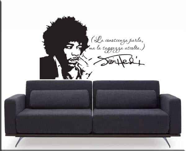 Decorazione adesiva frase Jimi Hendrix
