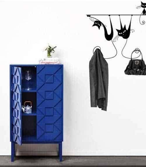 appendiabiti decorazione adesiva murale gatti