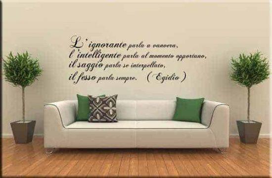 Decorazione adesiva murale frase Egidio