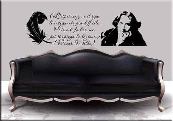 Decorazione murale citazione Oscar Wilde