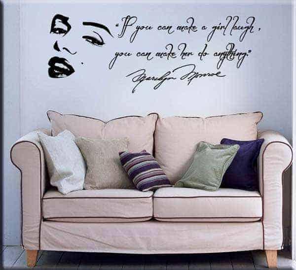 Decorazione murale frase Marilyn Monroe