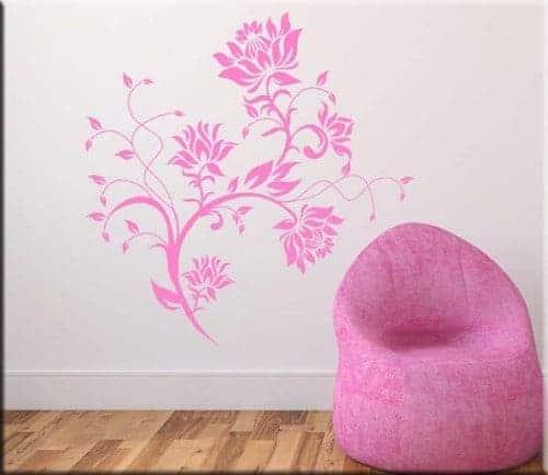 Decorazioni adesive murali fiori stilizzati