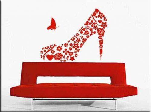 Decorazioni adesive scarpa donna vintage