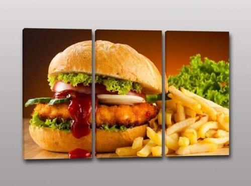 Quadri moderni panino fast food