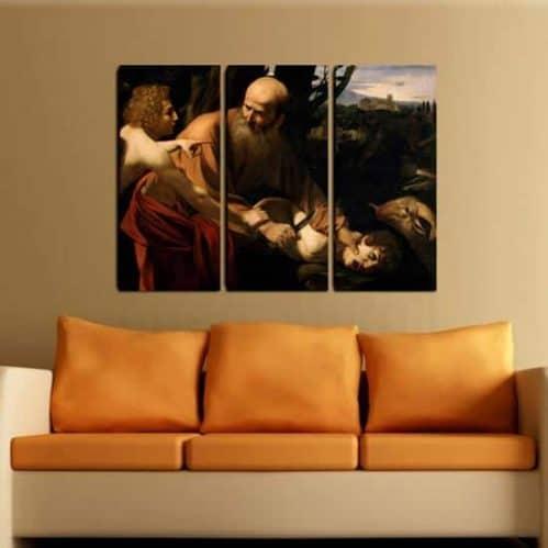 Quadri su tela riproduzione opera caravaggio sacrificio di Isacco