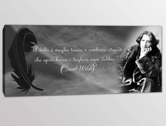 Quadro moderno aforisma Oscar Wilde