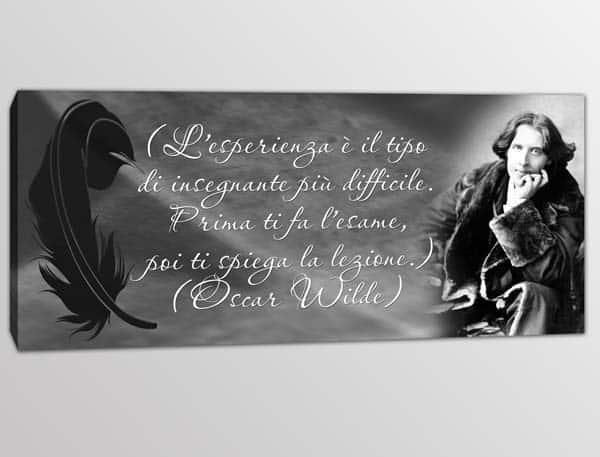 Quadro moderno frase Oscar Wilde