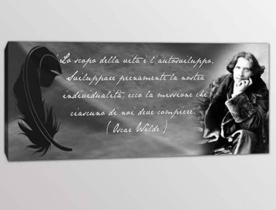 Quadro stampa frase Oscar Wilde