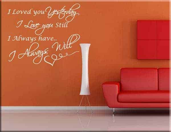 Wall stickers frase i love you