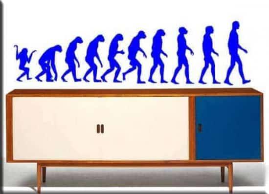 adesivi da parete evoluzione uomo