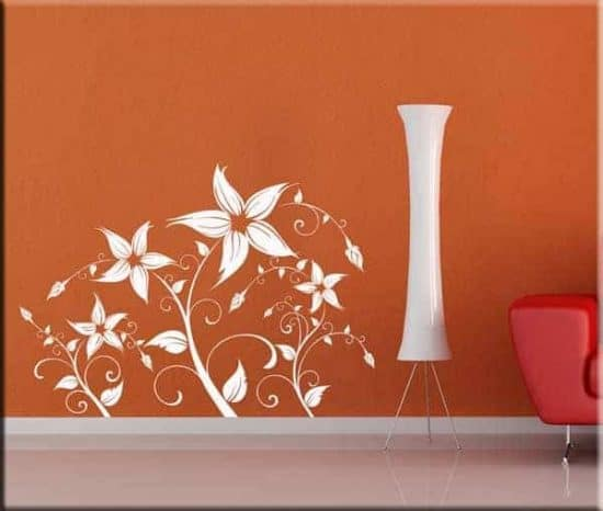 adesivi da parete fiori stilizzati
