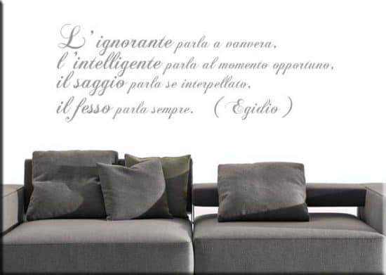 adesivi da parete frase Egidio