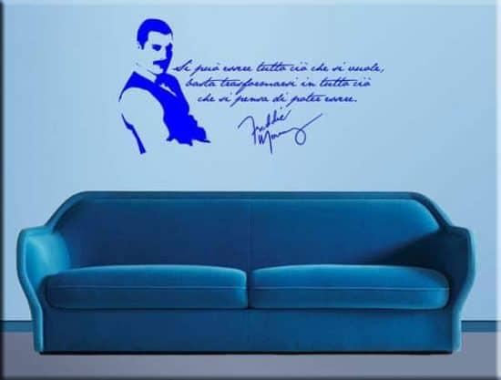 adesivi da parete frase Freddie Mercury
