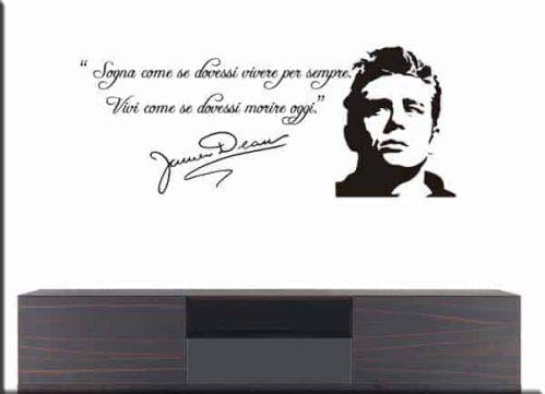 adesivi da parete frase James Dean