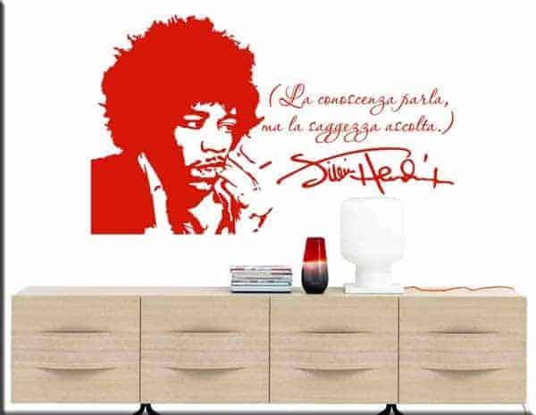 adesivi da parete frase Jimi Hendrix
