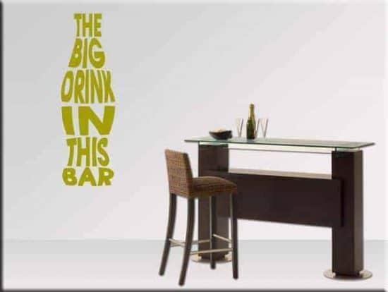 adesivi da parete frase drink bar