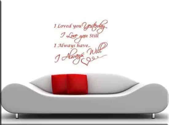 adesivi da parete frase i love you
