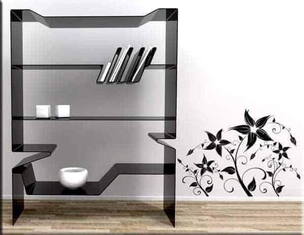 Adesivi murali fiori stilizzati for Quadri fiori stilizzati
