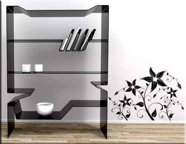 adesivi murali fiori stilizzati