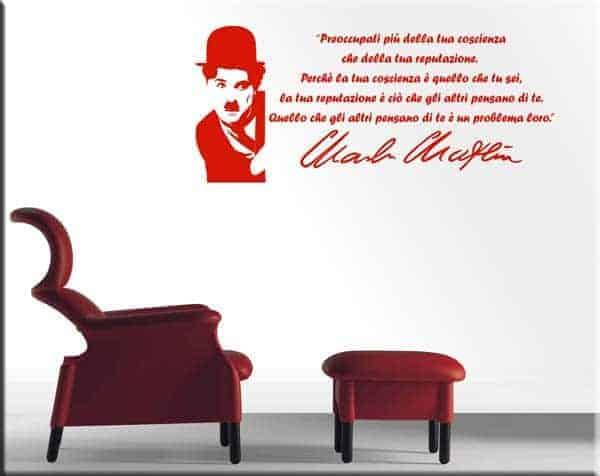 adesivi murali frase Charlie Chaplin