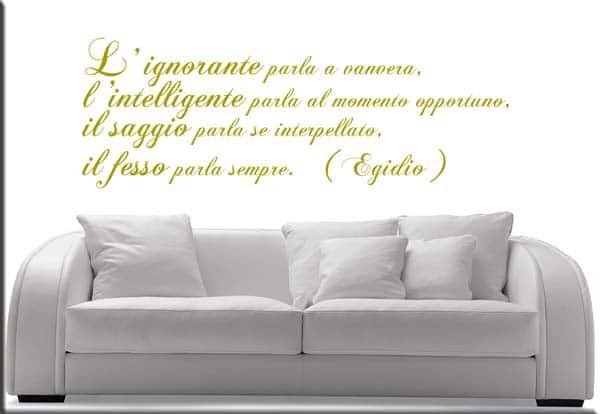 adesivi murali frase Egidio