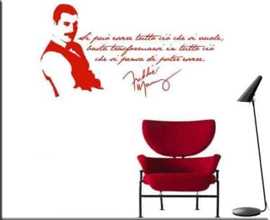 adesivi murali frase Freddie Mercury