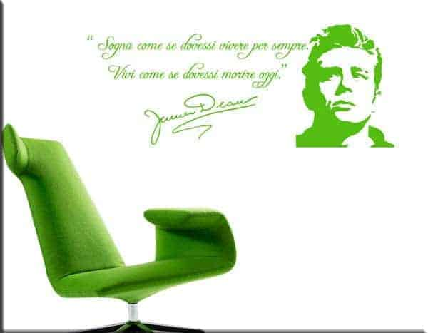 adesivi murali frase James Dean