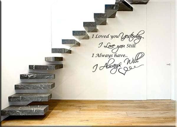 adesivi murali frase i love you