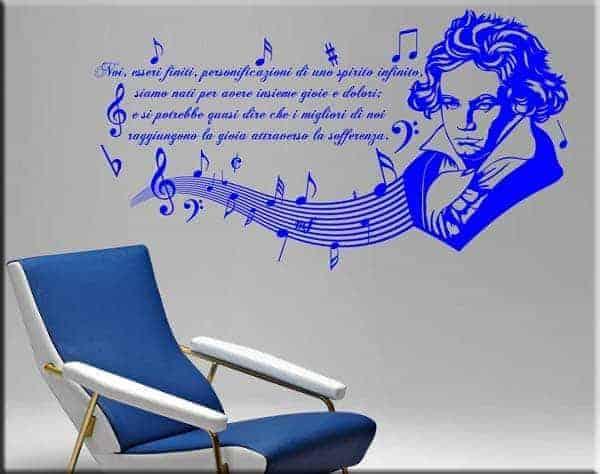 adesivi murali frasi Beethoven musica
